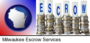 Milwaukee, Wisconsin - the concept of escrow, with coins
